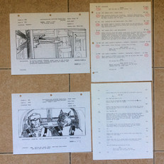 Star Wars storyboards and script pages