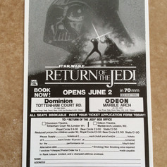 Return of the Jedi ticket booking form