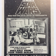Print advert for Magnetic Video UK Making of Star Wars Tape