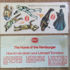 Star Wars Wimpy Letraset transfers