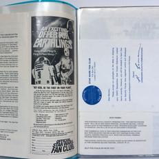 UK application form (1978), apology note (1978/9), and TESB Premiere info (1979)