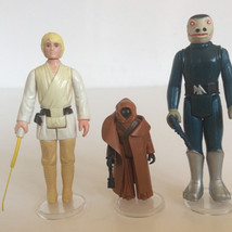 Double Telescoping Luke Skywalker, Vinyl Cape Jawa and Blue Snaggletooth