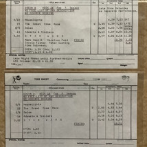 1978 Odeon cinema time sheets