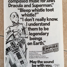 Advertisement for The Empire Strikes Back soundtrack