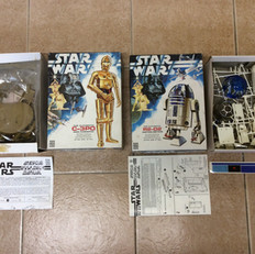 Denys Fisher C-3PO and R2-D2 model kits