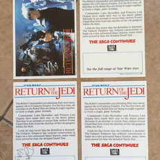 Return of the Jedi postcards