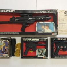 Palitoy Laser Rifle, Blaster Pistol and Light Saber