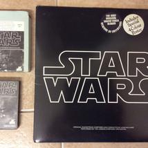 8 track, cassette, and vinyl formats for Star Wars soundtrack