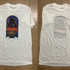 The Empire Strikes Back Vader in Flames crew tee shirt