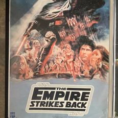 The Empire Strikes Back video store poster