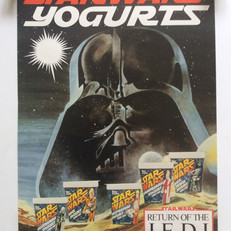 Dairy Time Return of the Jedi Shop Display Poster