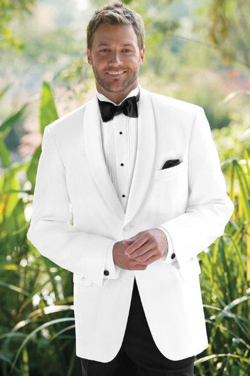 Tuxedo 701 White Classic Shawl