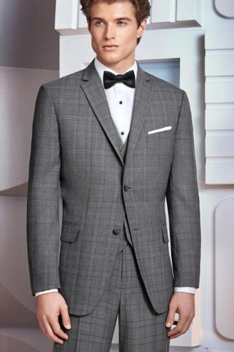 Tuxedo 231 Hamilton Ultra Slim Grey Plaid