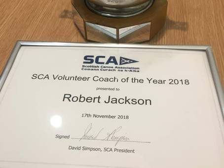 SCA Volunteer Coach Of The Year 2018
