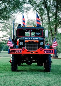 auburn tiger wedding sendoff truck