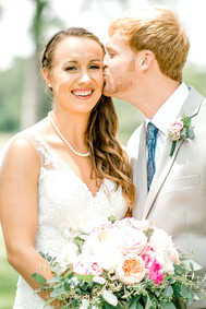 bride and groom auburn wedding