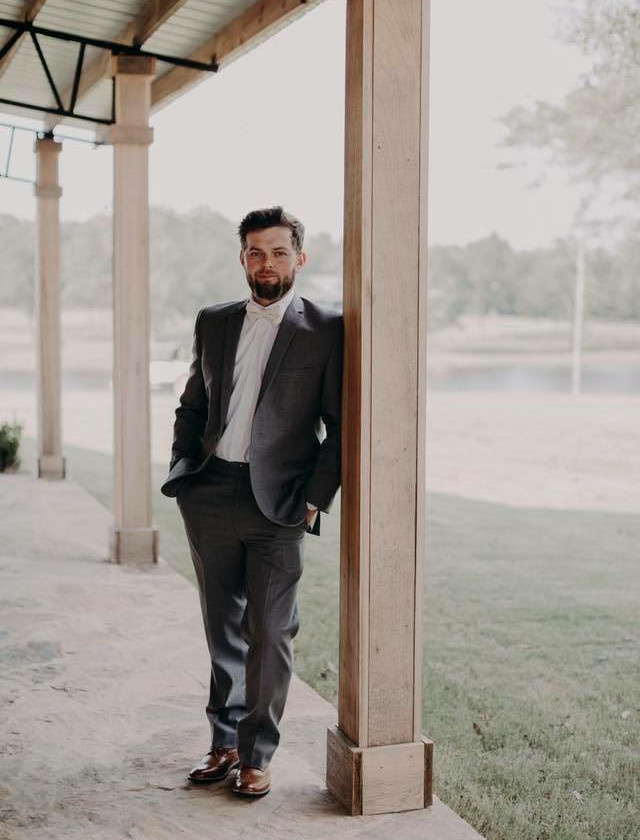 auburn groom wedding day