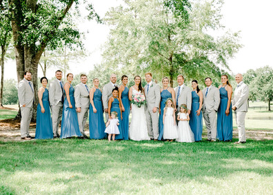 auburn wedding party