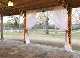 Front Porch with Drapes