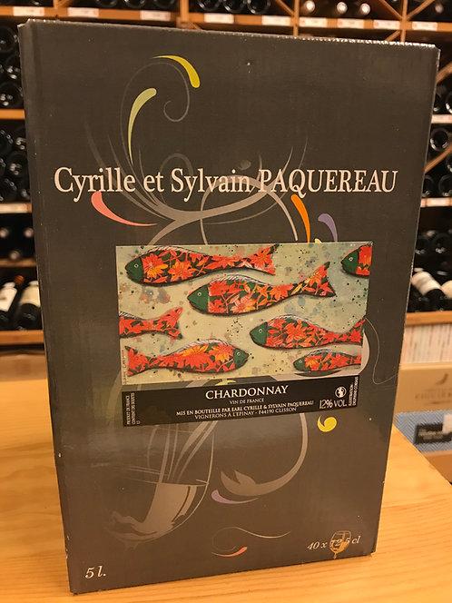BIB BLANC 5 litres - Vin de France Chardonnay - Cyrille et Sylvain Paquereau