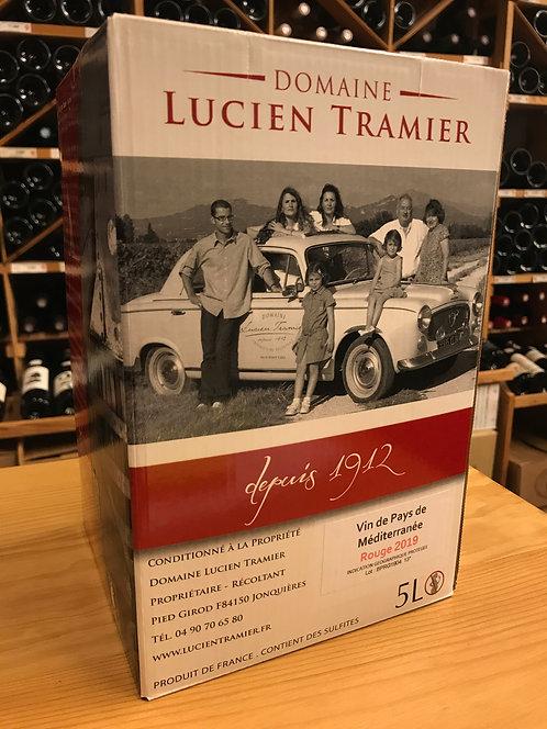 BIB ROUGE 5 litres - Vin de Pays de Méditerranée 2019 - Domaine Lucien Tramier