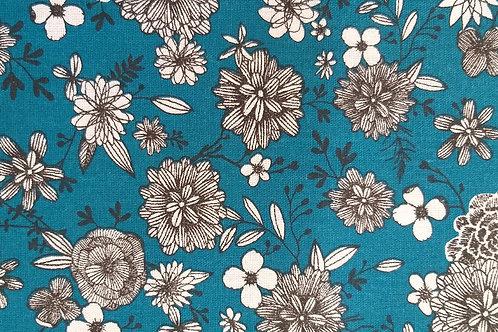Adultes - Déco florale bleue