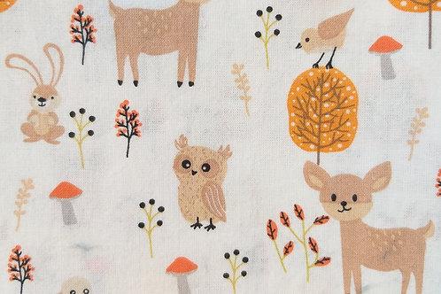 Enfants - Biche, hibou, lapin & renard