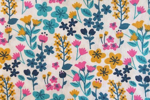 Enfants - Grandes fleurs de couleur