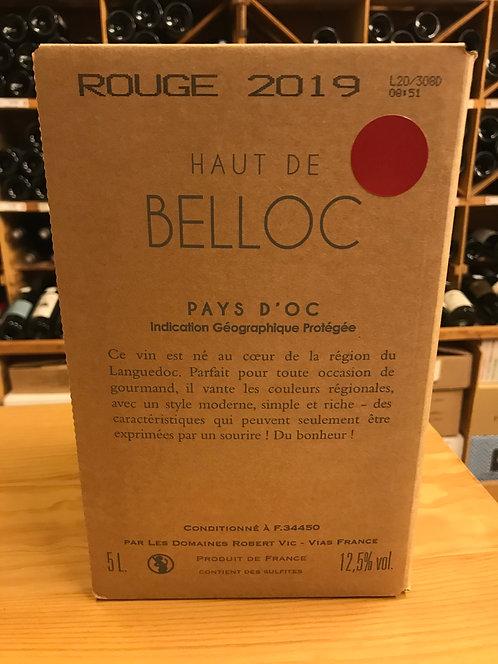 BIB ROUGE 5 litres - Haut de Belloc Réserve 2019 - Domaines Robert Vic