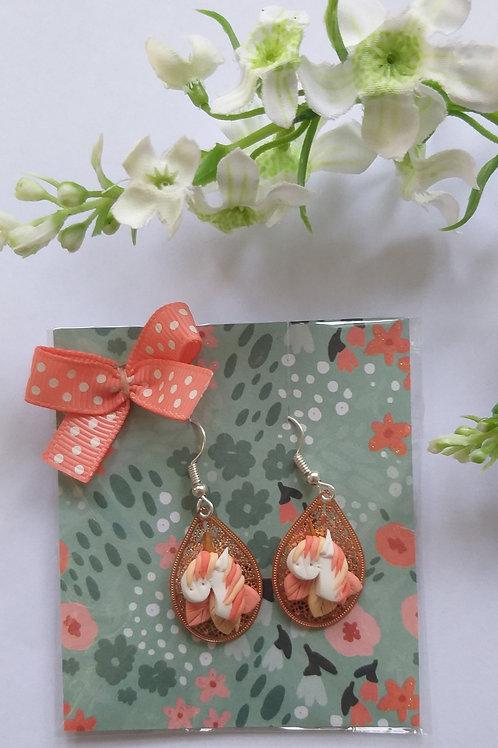 Boucles d'oreilles licorne - BO0031