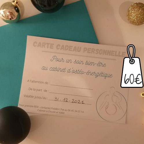 Carte cadeau - 1 séance
