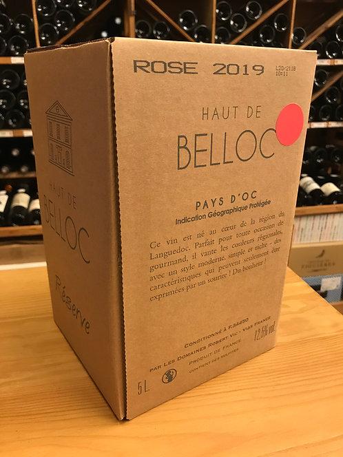 BIB ROSE 5 litres - Haut de Belloc Réserve 2019 - Domaines Robert Vic