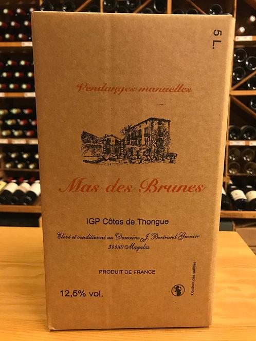 BIB ROUGE 5 litres - IGP Côtes de Thongue BIO - Mas des Brunes