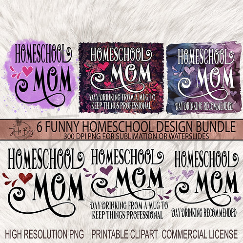 Homeschool Mom PNG Bundle - Day Drinking Recommended Day Drinking From A Mug