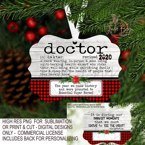 Doctor PNG 2020 Christmas Ornament definition for Pandemic