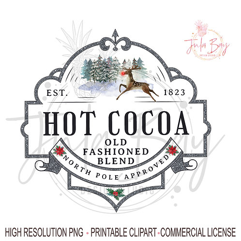 Hot Chocolate Christmas Sublimation Design Instant Download Cricut Silhouett
