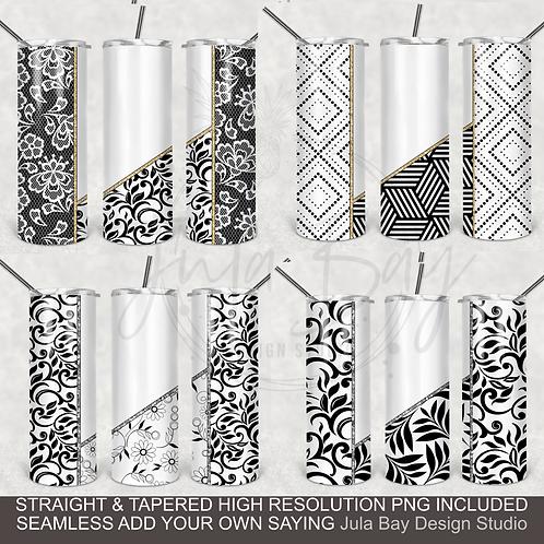 Geometric Full Tumbler Wrap Bundle 20oz Skinny For Colored Tumblers or Epoxy