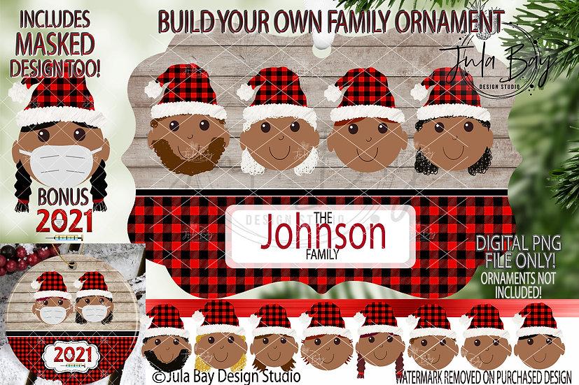 Tan Skin Elf Build your own Ornament -  Family Custom Hair Colors