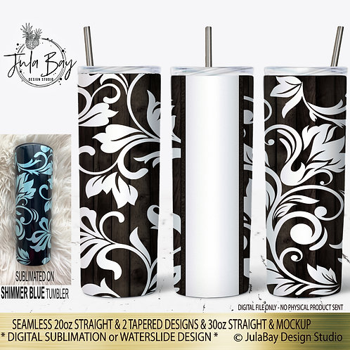 Tooled Leather Peekaboo Skinny Tumbler Design for Colored Tumblers Waterslide