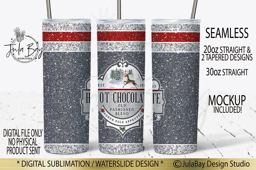 Sock Monkey Tumbler Design with Hot Chocolate North Pole Approved Design PNG