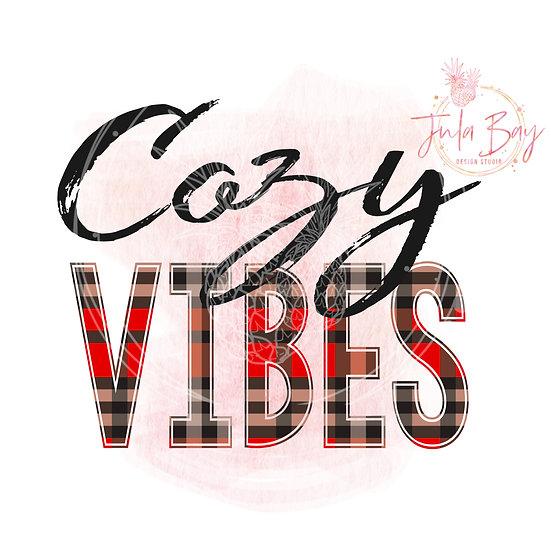Cozy Vibes Sublimation Design - Sweatshirt SVG - Printable