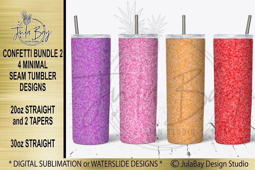 Confetti Tumbler Templates Bundle 2 for Skinny Tumblers