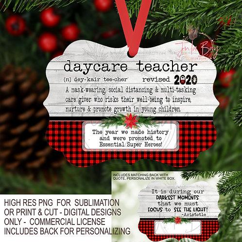 Daycare Teacher PNG 2020 Christmas Ornament Pandemic Definition Social Distance