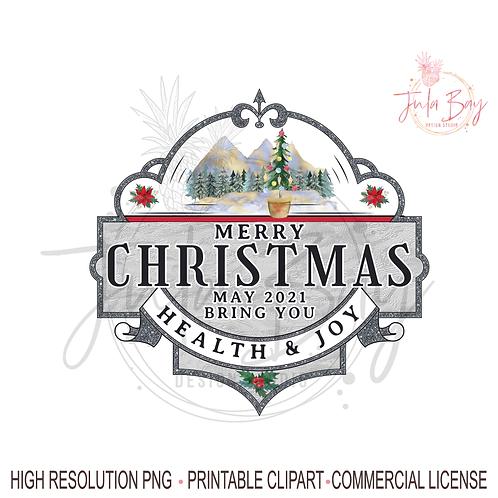 Merry Christmas PNG Health and Joy Christmas Kitchen Towel Tea Towel Design Chri