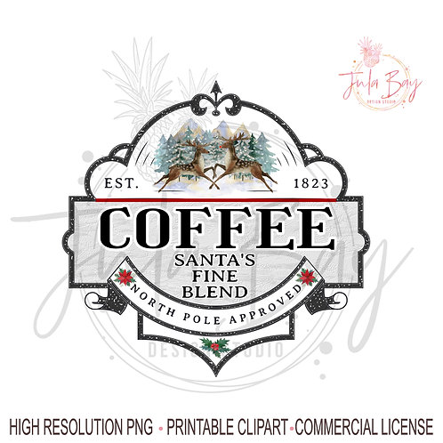 Christmas Coffee PNG Christmas Sublimation Design Instant Download