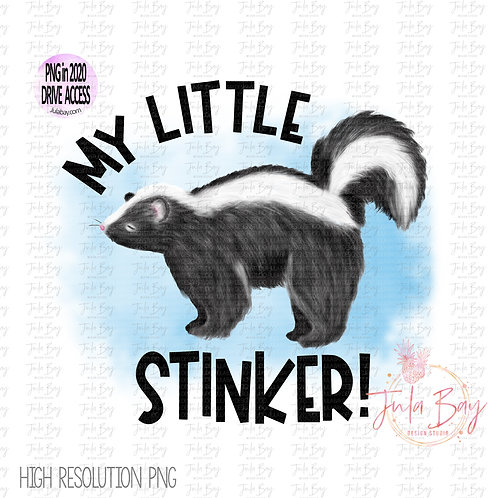 Skunk Clipart - My Little Stinker Sublimation Graphics Original Art PNG