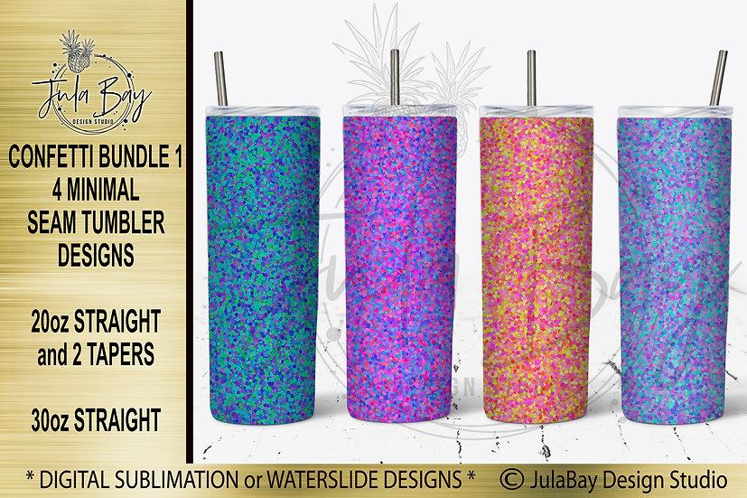 Confetti Tumbler Templates Bundle 4 for Skinny Tumblers