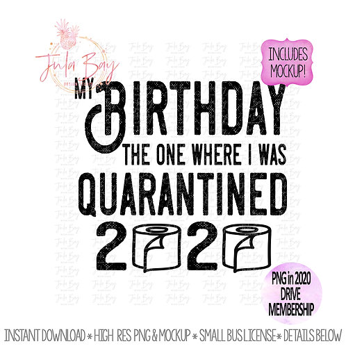 My Birthday the one where I was quarantined 2020