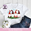 Thumbnail: 4 Gnomes with Evergreen PNG  Family of 4 Christmas Jammies Sublimation Design