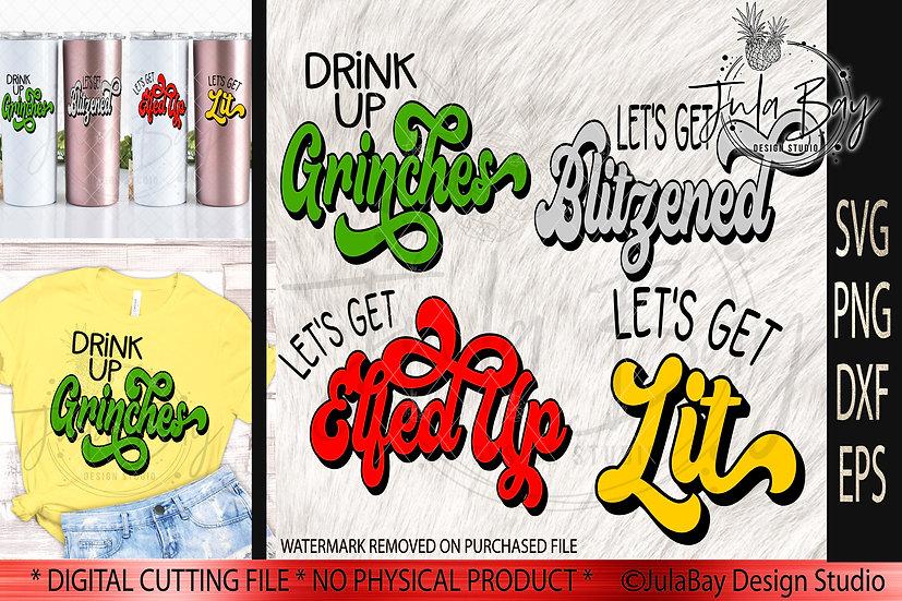 Christmas Cheer SVG Set - Let's Get Elfed Up - Let's Get